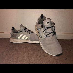 Grey Adidas with black reflectors